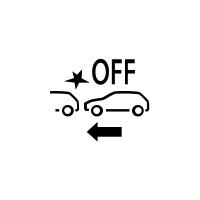 (Suivant véhicule)Témoin de défaillance ou de non disponibilité du freinage actif d'urgence