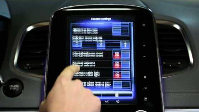 Het contextmenu Instellingen gebruiken in het  automenu?